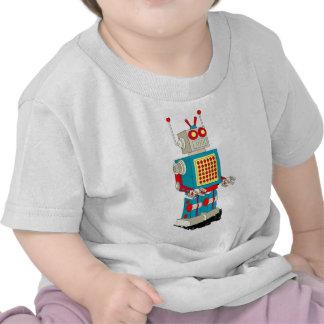 Dibujo animado del carácter del robot camisetas
