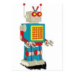 Dibujo animado del carácter del robot postal