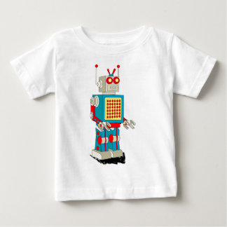 Dibujo animado del carácter del robot remeras