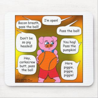 dibujo animado del cerdo de 473 bolas mousepads