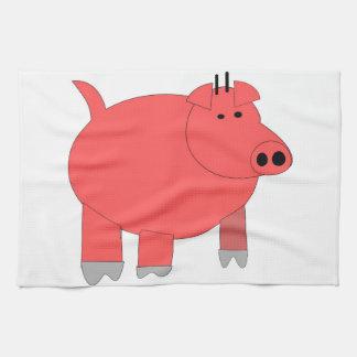 Dibujo animado del cerdo toallas de cocina