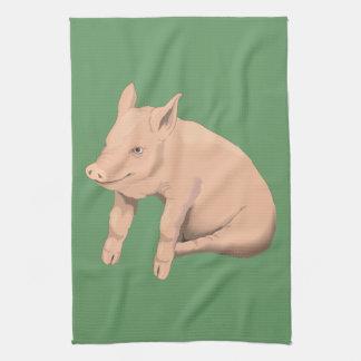 Dibujo animado del cerdo toalla