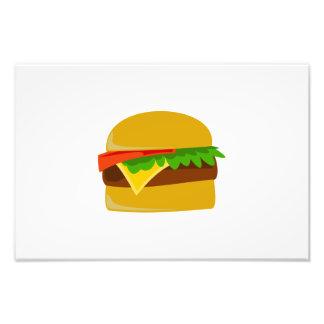 Dibujo animado del cheeseburger cojinete