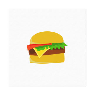 Dibujo animado del cheeseburger impresiones en lona estiradas