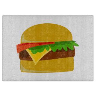 Dibujo animado del cheeseburger tablas para cortar
