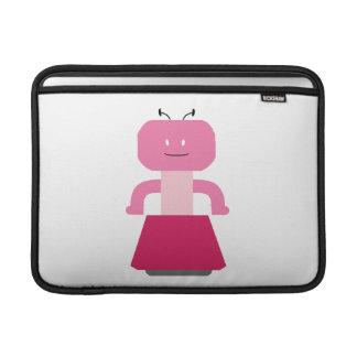 Dibujo animado del chica del robot funda  MacBook