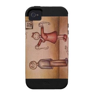 Dibujo animado del chica que rellena la camisa con Case-Mate iPhone 4 fundas