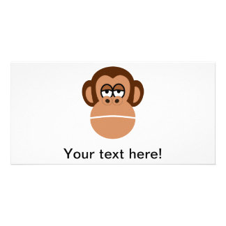 Dibujo animado del chimpancé tarjeta fotografica