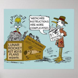 Dibujo animado del chiste de Seguro de enfermedad  Impresiones