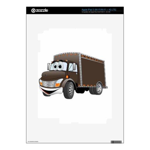 Dibujo animado del chocolate del camión de reparto pegatinas skins para iPad 3