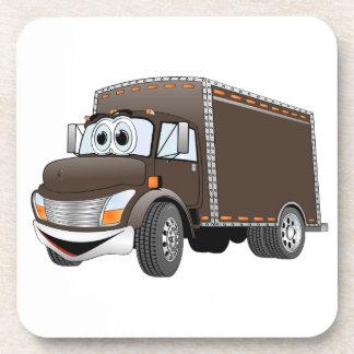 Dibujo animado del chocolate del camión de reparto posavasos
