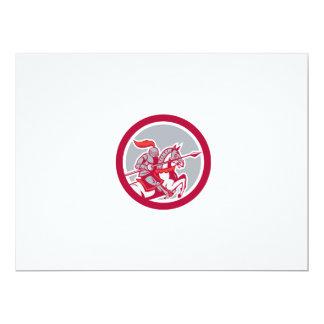 Dibujo animado del círculo de la lanza del caballo invitación 16,5 x 22,2 cm