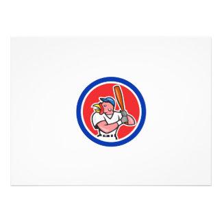 Dibujo animado del círculo del bateo del bateador