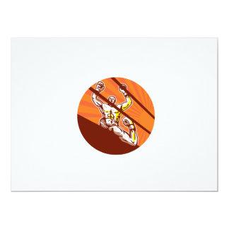 Dibujo animado del círculo del boxeador que gana invitación 16,5 x 22,2 cm