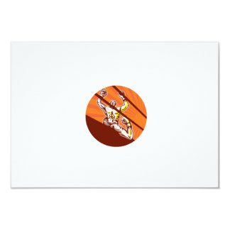 Dibujo animado del círculo del boxeador que gana invitación 8,9 x 12,7 cm