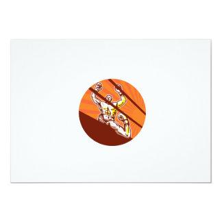 Dibujo animado del círculo del boxeador que gana invitación 12,7 x 17,8 cm