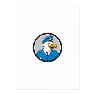 Dibujo animado del círculo del policía de Eagle Postal
