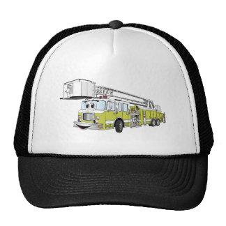 Dibujo animado del coche de bomberos del tubo resp gorras de camionero