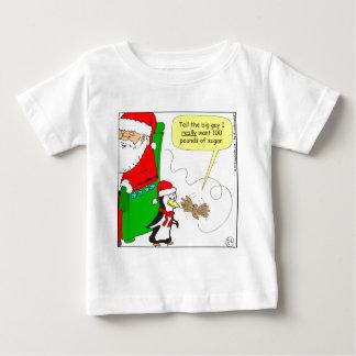 dibujo animado del colibrí del azúcar del navidad t shirts