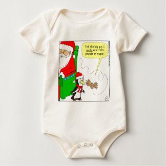 dibujo animado del colibrí del azúcar del navidad trajes de bebé