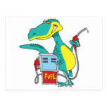 dibujo animado del combustible fósil de la bomba postal