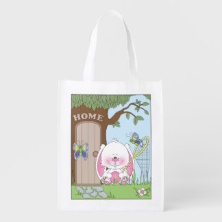 Dibujo animado del conejito del bebé bolsa de la compra