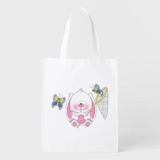 Dibujo animado del conejito del bebé bolsas de la compra