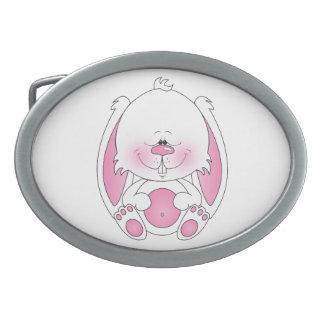 Dibujo animado del conejito del bebé hebilla cinturon oval