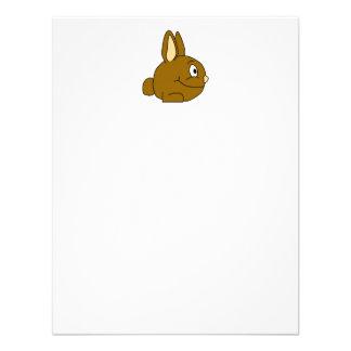 Dibujo animado del conejo de Brown Invitacion Personalizada