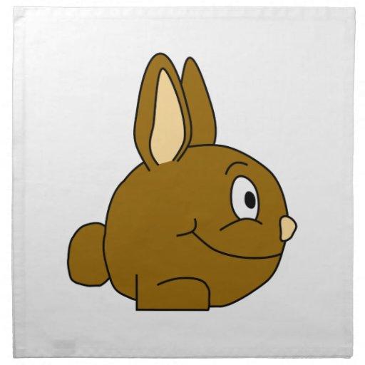 Dibujo animado del conejo de Brown Servilletas De Papel