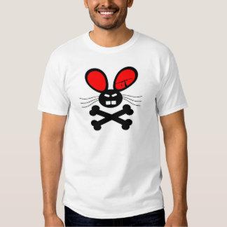 Dibujo animado del conejo del asesino playera