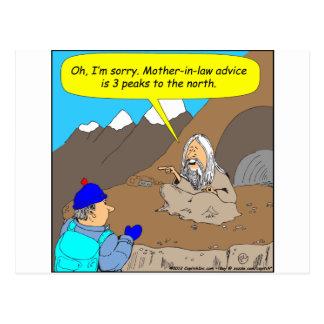 Dibujo animado del consejo de la suegra del gurú A Tarjetas Postales