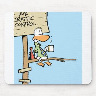Dibujo animado del controlador aéreo tapete de raton