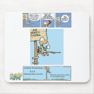 Dibujo animado del controlador aéreo alfombrilla de ratón
