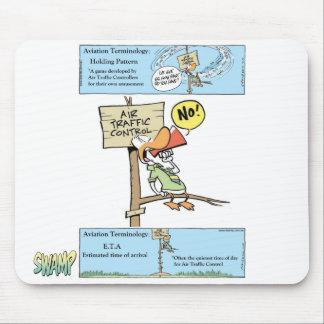 Dibujo animado del controlador aéreo alfombrilla de raton