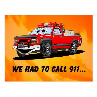 Dibujo animado del cumpleaños 911 postales