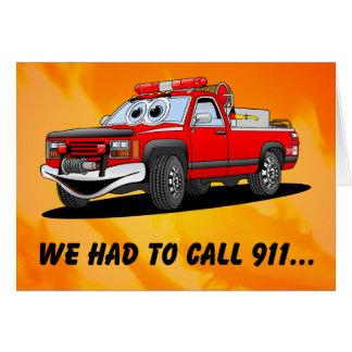 Dibujo animado del cumpleaños 911 tarjeta de felicitación