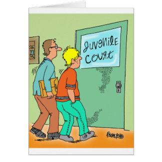 Dibujo animado del delincuente juvenil tarjeta de felicitación