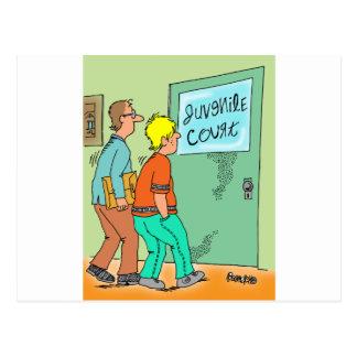 Dibujo animado del delincuente juvenil tarjeta postal