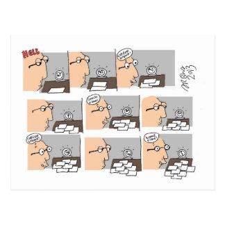 Dibujo animado del día laborable del infierno de S Tarjetas Postales