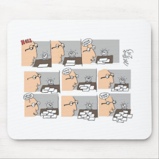 Dibujo animado del día laborable del infierno de tapete de raton