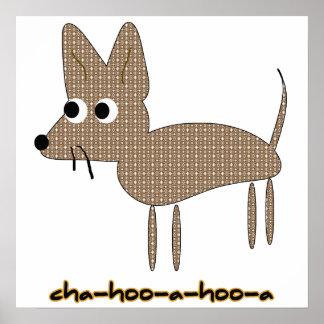 Dibujo animado del dibujo de Chihooahooa de la chi Poster