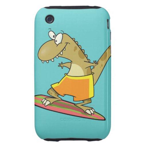 dibujo animado del dinosaurio de la persona que pr iPhone 3 tough fundas