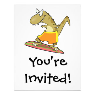 dibujo animado del dinosaurio de la persona que pr invitacion personal