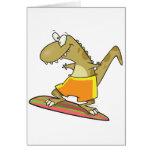 dibujo animado del dinosaurio de la persona que pr tarjeton