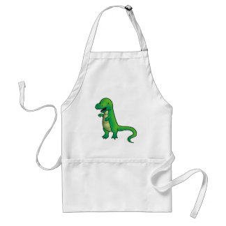 Dibujo animado del dinosaurio de Rex del Tyrannosa Delantal