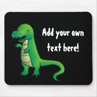 Dibujo animado del dinosaurio de Rex del Tyrannosa Alfombrilla De Ratón