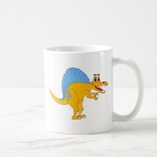 Dibujo animado del dinosaurio de Spinosaurus Taza