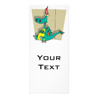 Dibujo animado del dinosaurio del tonto de Dumbosa Diseños De Tarjetas Publicitarias