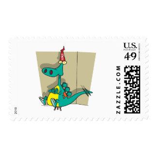 Dibujo animado del dinosaurio del tonto de sello